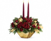 Crimson & Gold Centerpiece